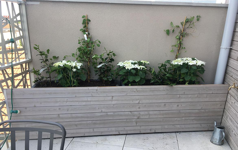 L'entretien d'une terrasse à Pantin