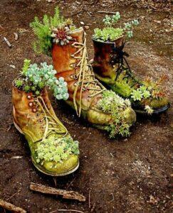 Les chaussures en guise de pot